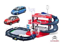 Bburago - Citroen  - bura30183 : Citroen Garage + DS3 & C4 Picasso, red/blue