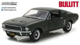 GreenLight - Ford  - gl84041 : 1967 Ford Mustang GT *Bullit* 1/24 Hollywood series 2