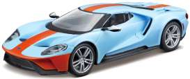 Ford  - 2017 blue/orange - 1:32 - Bburago - 43043B - bura43043B | Toms Modelautos