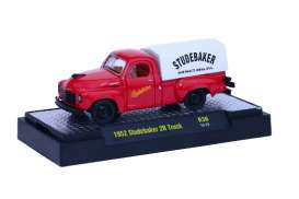 Studebaker  - 2R Truck 1952 red/white - 1:64 - M2 Machines - 32500-36B - M2-32500-36B | Toms Modelautos