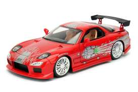 Jada Toys - Mazda  - jada98338 : 1995 Dom's Mazda RX-7 *Fast and Furious 1*, red