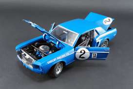 Shelby Ford - Mustang #2 1968 blue/white - 1:18 - Acme Diecast - acme12987 | Tom's Modelauto's