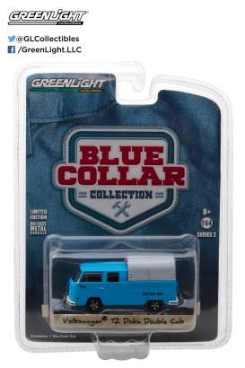 GreenLight - Volkswagen  - gl35060F : Volkswagen T2 Doka Crew Cab with Canopy *Blue Collar Collection Series 2*