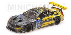 BMW  - 2016 grey/yellow - 1:43 - Minichamps - 437162609 - mc437162609 | Tom's Modelauto's