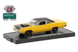 Plymouth  - 1969 yellow/black - 1:64 - M2 Machines - 11228-38A - M2-11228-38A | Tom's Modelauto's