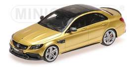 Brabus Mercedes Benz - 2015 gold - 1:43 - Minichamps - 437036101 - mc437036101 | Tom's Modelauto's