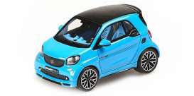 Smart  - 2016 Blue - 1:43 - Minichamps - 437036201 - mc437036201 | Toms Modelautos
