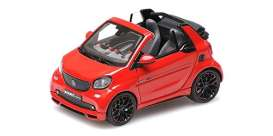 Smart  - 2016 red - 1:43 - Minichamps - 437036231 - mc437036231 | Toms Modelautos