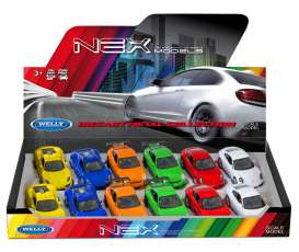 Welly - Porsche  - Welly49720SPD-04~12 : 1/34-1/38 Porsche assortment mix with 918 hard top, GT3 RS, & 911 (991) Display with 12pcs in 6 colours (orange, blue, white, red, yellow & green).