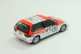 Honda  - 1990 white/orange - 1:18 - Triple9 Collection - 1800103 - T9-1800103 | Toms Modelautos