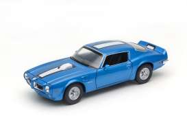 Welly - Pontiac  - welly24075b : 1972 Pontiac Firebird Trans Am, blue with white stripe