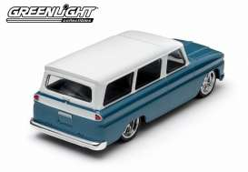 Chevrolet  - 1966 blue with white roof - 1:43 - GreenLight - 86059 - gl86059 | Toms Modelautos