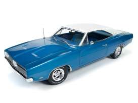 Auto World - Dodge  - AMM1100 : 1969 Dodge Charger Hemmings Muscle Machines, blue