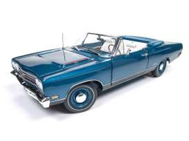 Plymouth  - 1969 blue - 1:18 - Auto World - AMM1102 | Toms Modelautos