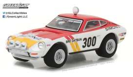 Datsun  - 1973 white/red/yellow - 1:64 - GreenLight - gl29880C | Tom's Modelauto's