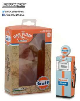GreenLight - Accessoires diorama - gl14010A : 1/18 1951 Wayne 505 Gulf Oil Gas Pump *Vintage Gas Pumps Series 1* orange/blue