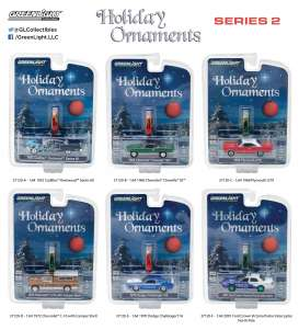GreenLight - Assortment/ Mix  - gl37120~12 : 1/64 GreenLight Holiday Ornaments Series 2 assortment of 12.