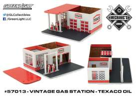 GreenLight - Accessoires  - gl57013 : 1/64 Vintage Gas Station Texaco Oil *Mechanic's Corner Series 1*