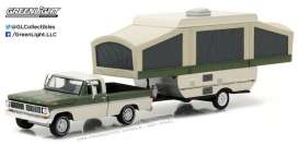 GreenLight - Ford  - gl32100B : 1970 Ford F-100 with Pop-Up Camper Trailer *Hitch & Tow Series 10*