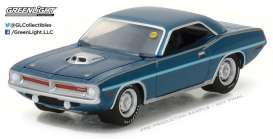 Plymouth  - 1970 Jamaica blue - 1:64 - GreenLight - 37110D - gl37110D | Tom's Modelauto's