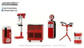 GreenLight - Accessoires diorama - gl13154 : 1/64 GL Muscle Shop Tools *Texaco* Hobby Exclusive