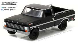 GreenLight - Ford  - gl27910A : 1968 Ford F-100 with Bed Rails *Black Bandit Series 17*, black