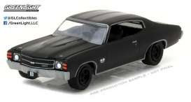 GreenLight - Chevrolet  - gl27910B : 1971 Chevrolet Chevelle SS454 *Black Bandit Series 17*, black
