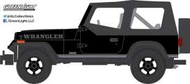 GreenLight - Jeep  - gl27910D : 1989 Jeep Wrangler Soft Top *Black Bandit Series 17*, black