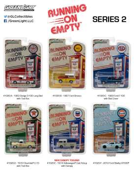 GreenLight - Assortment/ Mix  - gl41020~12 : Running on Empty Series 2, Assortment of 12