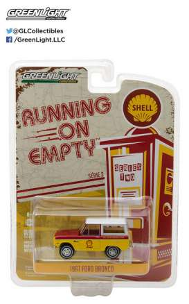 GreenLight - Ford  - gl41020B : 1967 Ford Bronco Shell Oil *Running on Empty Series 2*