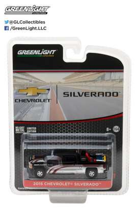 GreenLight - Chevrolet  - gl29896 : 2015 Chevrolet Silverado with Safety Equipment in Truck Bed (Hobby Exclusive), black