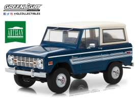 Ford  - Bronco Explorer 1976 blue/white - 1:18 - GreenLight - 19035 - gl19035 | Tom's Modelauto's