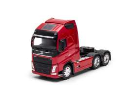 Volvo  - FH 3-axle 2016 red - 1:32 - Welly - 32690Lr - welly32690Lr | Tom's Modelauto's
