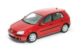Volkswagen  - 2005 red - 1:18 - Welly - 12548r - welly12548r | Toms Modelautos