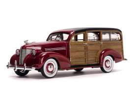 SunStar - Chevrolet  - sun6176 : 1939 Chevrolet Woody Surf Wagon, permanent red