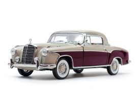 Mercedes Benz  - 220SE coupe 1959 cream/red - 1:18 - SunStar - 3570 - sun3570 | Tom's Modelauto's