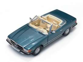 Mercedes Benz  - 350SL convertible 1960 silver blue - 1:18 - SunStar - sun4673 | Tom's Modelauto's