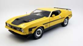 Ford  - Mustang Mach I 351 Ram Air 1971 medium bright yellow - 1:18 - SunStar - 3637 - sun3637 | Toms Modelautos