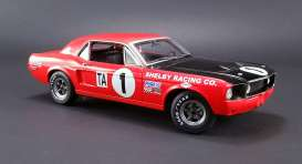 Ford  - Trans Am Shelby Mustang #1 1968 red/black - 1:18 - Acme Diecast - acme12988 | Tom's Modelauto's