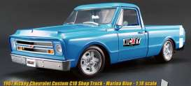 Acme Diecast - Chevrolet  - acme1807205 : 1967 Chevrolet C10 pick-up *Custom Nickey*, marina blue