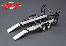 GMP - Trailer  - gmp14302 : 1/43 Tandem Trailer with tire rack, black