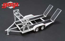 GMP - Trailer  - gmp14303 : 1/43 Tandem Trailer with tire rack, grey