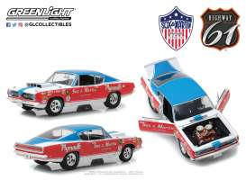 Plymouth  - Barracuda Sox & Martin 1968 red/white/blue - 1:18 - Highway 61 - hwy18003 | Tom's Modelauto's