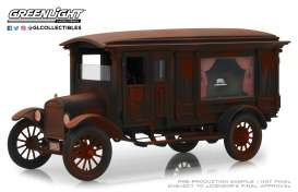 Ford  - Model T Hearse 1921 brown-red - 1:18 - GreenLight Precision Collection - GLPC18014 | Toms Modelautos