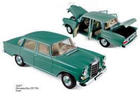 Mercedes  - 1966 green - 1:18 - Norev - nor183577 | Tom's Modelauto's