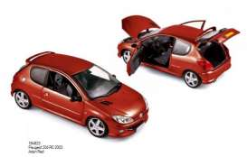 Norev - Peugeot  - nor184823 : 2003 Peugeot 206 RC, aden red
