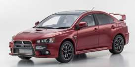 Kyosho - Mitsubishi  - kyoKSR18019R : Mitsubishi Lancer Evolution X *resin Samurai series*, red