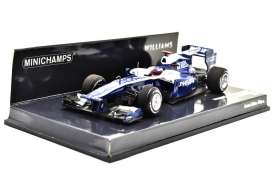 Minichamps - Williams Cosworth - mc417100009 : 2010 AT&T Williams Cosworth FW32 *Rubens Barrichello *Resin series*, blue/white