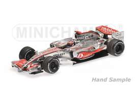 McLaren Mercedes Benz - 2007 silver/red - 1:43 - Minichamps - 435074301 - mc435074301 | Tom's Modelauto's