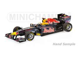 Minichamps - Red Bull Racing   - mc435110401 : 2011 Red Bull Racing RB7 *Sebastian Vettel* Winner Monaco GP, blue/red/yellow